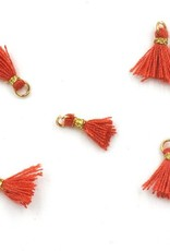10 PC 10mm Red/Gold Tassel
