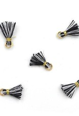 10 PC 10mm Black & White/Gold Tassel
