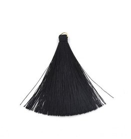 5 PC 70mm Black Tassel