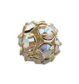 2 PC GP 10mm Rhinestone Balls : Crystal AB