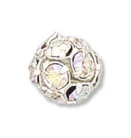 2 PC SP 12mm Rhinestone Balls : Crystal AB