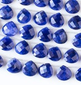 "8.5"" 14mm Faceted Briolette : Sapphire"