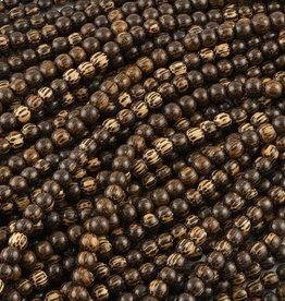 "10mm Round Pakitan Wood Bead 16"" Strand"