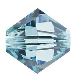 24 PC 3mm Swarovski Bicone (5328) : Aquamarine