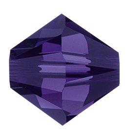 24 PC 3mm Swarovski Bicone (5328) : Purple Velvet