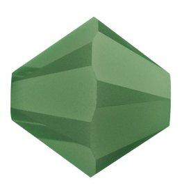 24 PC 4mm Swarovski Bicone (5328) : Palace Green Opal