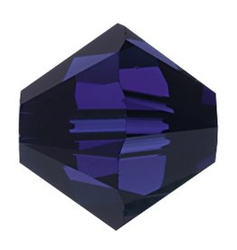 24 PC 4mm Swarovski Bicone (5328) : Dark Indigo