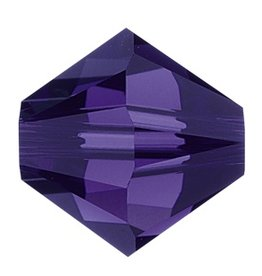 24 PC 4mm Swarovski Bicone (5328) : Purple Velvet