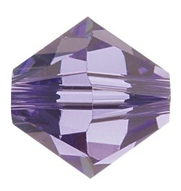 24 PC 4mm Swarovski Bicone (5328) : Tanzanite