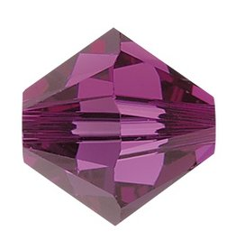 24 PC 4mm Swarovski Bicone (5328) : Fuschia