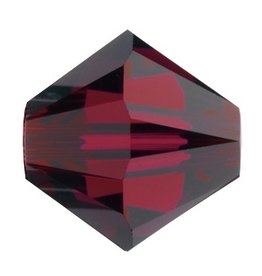24 PC 4mm Swarovski Bicone (5328) : Ruby