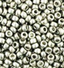 9 GM Toho Round 15/0 : Metallic Silver