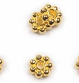 25 PC GP 5mm Daisy Spacer Bead