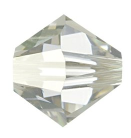 12 PC 6mm Swarovski Bicone (5328) : Crystal Silver Shade
