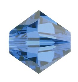 12 PC 6mm Swarovski Bicone (5328) : Capri Blue