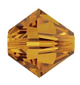 6 PC 8mm Swarovski Bicone (5328) : Crystal Copper