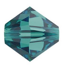 6 PC 8mm Swarovski Bicone (5328) : Blue Zircon