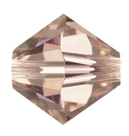 6 PC 8mm Swarovski Bicone (5328) : Vintage Rose