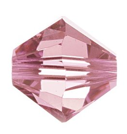 6 PC 8mm Swarovski Bicone (5328) : Light Rose