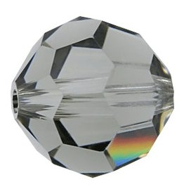 6 PC 8mm Swarovski Round (5000) : Black Diamond