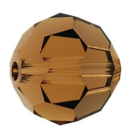 6 PC 8mm Swarovski Round (5000) : Smoked Topaz