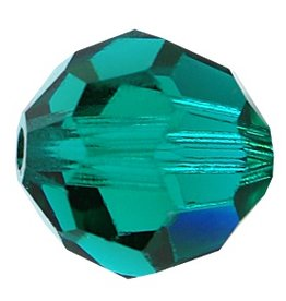 6 PC 8mm Swarovski Round (5000) : Emerald