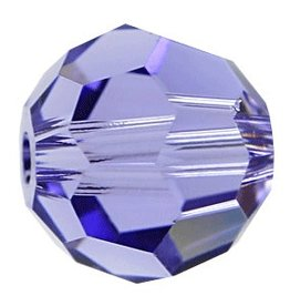 6 PC 8mm Swarovski Round (5000) : Tanzanite