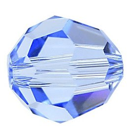 6 PC 8mm Swarovski Round (5000) : Light Sapphire