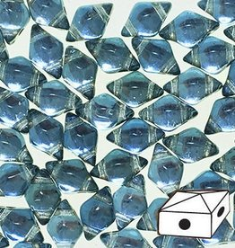 10 GM 5x8mm DiamondDuo™ 2 Hole Bead : Prismatic Stormy Seas (APX 65 PCS)