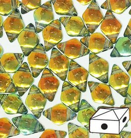 10 GM 5x8mm DiamondDuo™ 2 Hole Bead : Prismatic Sunset (APX 65 PCS)