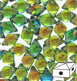 10 GM 5x8mm DiamondDuo™ 2 Hole Bead : Prismatic Tropics (APX 65 PCS)