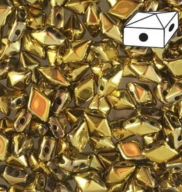 10 GM 5x8mm DiamondDuo™ 2 Hole Bead : Full Aurum (APX 65 PCS)
