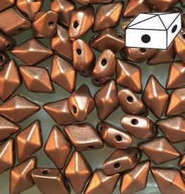 10 GM 5x8mm DiamondDuo™ 2 Hole Bead : Matte Bronze Copper (APX 65 PCS)