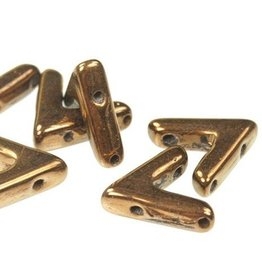 10 PC 10x4mm AVA® Bead : Jet Bronze