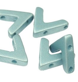 10 PC 10x4mm AVA® Bead : Metallic Aqua