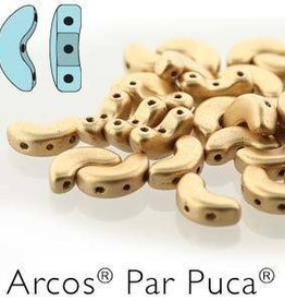 10 GM 5x10mm Arcos Par Puca : Light Gold Matte (APX 50 PCS)