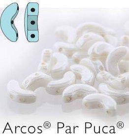 10 GM 5x10mm Arcos Par Puca : Opaque White Luster (APX 50 PCS)
