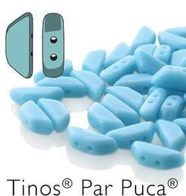 10 GM 4x10mm Tinos Par Puca : Opaque Turquoise (APX 50 PCS)