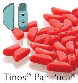 10 GM 4x10mm Tinos Par Puca : Opaque Coral Red (APX 50 PCS)