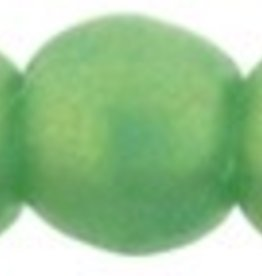 100 PC 2mm Round : Sueded Gold Atlantis Green