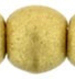 100 PC 2mm Round : Matte Metallic Flax