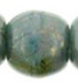 100 PC 2mm Round : Turquoise Bronze Picasso