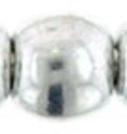 100 PC 2mm Round : Silver