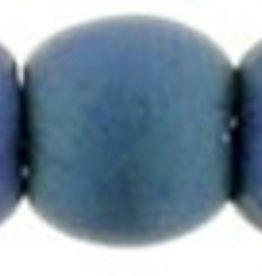 100 PC 2mm Round : Matte Blue Iris