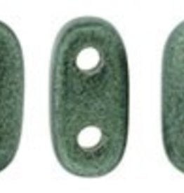 10 GM 2x6mm 2 Hole Bar : Metallic Suede Light Green (APX 140 PCS)