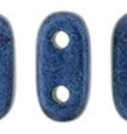 10 GM 2x6mm 2 Hole Bar : Metallic Suede Blue (APX 140 PCS)