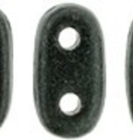10 GM 2x6mm 2 Hole Bar : Metallic Suede Dark Forest (APX 140 PCS)