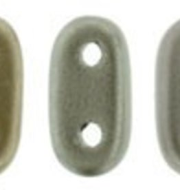 10 GM 2x6mm 2 Hole Bar : Matte Metallic Leather (APX 140 PCS)