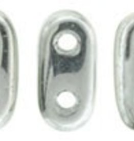 10 GM 2x6mm 2 Hole Bar : Silver (APX 140 PCS)