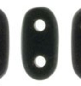 10 GM 2x6mm 2 Hole Bar : Matte Jet (APX 140 PCS)